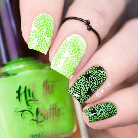 Hit The Bottle stamping polish - Ectoplasm Green (9ml)