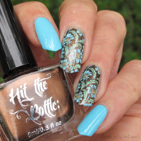 Hit The Bottle stamping polish - Espresso Martini (5ml)