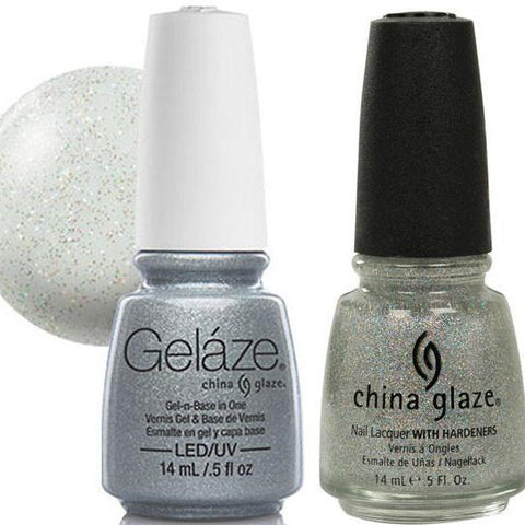 China Glaze - Lacquer & Gel 2 pcs Duo Pack - Fairy Dust