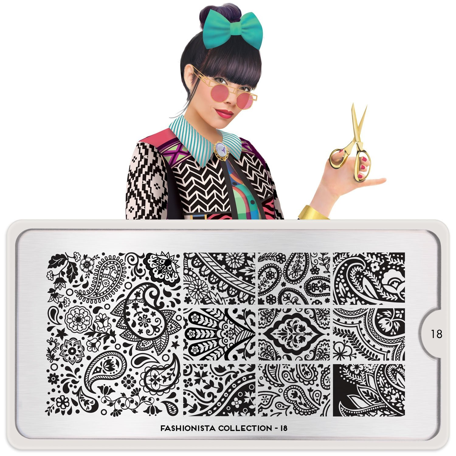 MoYou London Fashionista 18 stamping plate