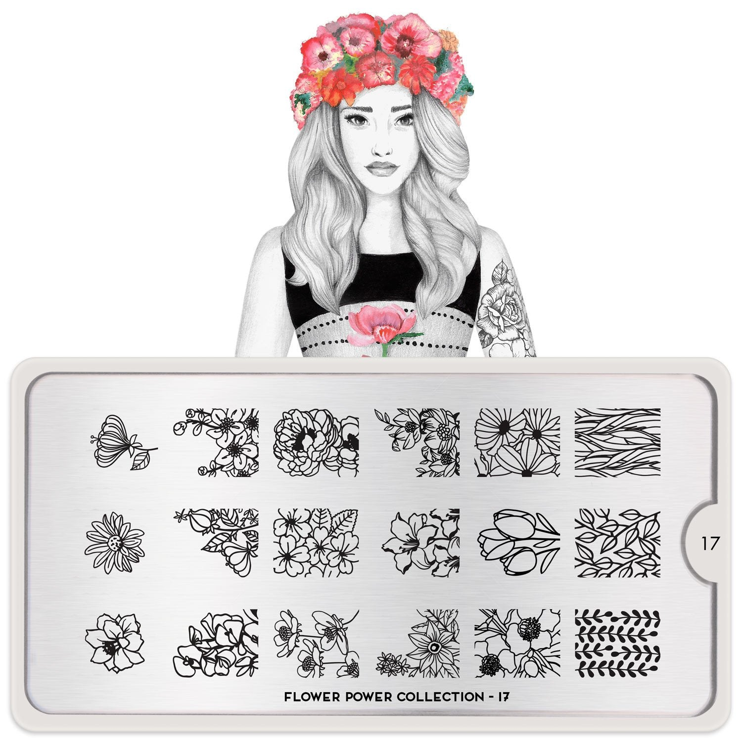 MoYou London Flower Power 17 stamping plate