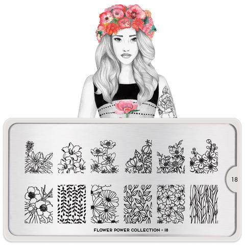 MoYou London Flower Power 18 stamping plate