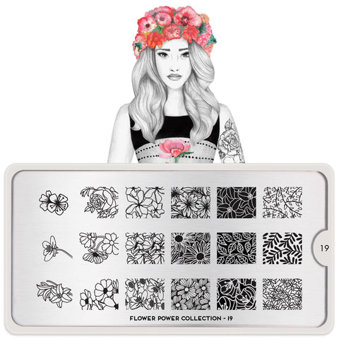 MoYou London Flower Power 19 stamping plate