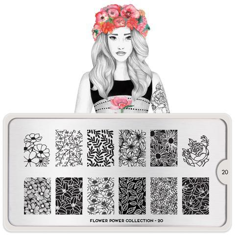 MoYou London Flower Power 20 stamping plate