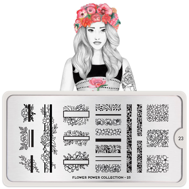 MoYou London Flower Power 23 stamping plate