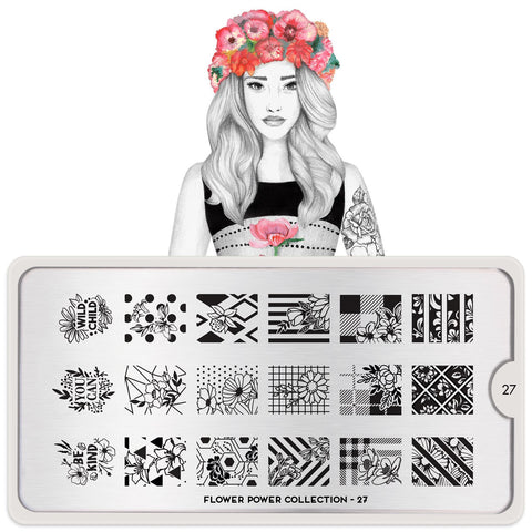 MoYou London Flower Power 27 stamping plate