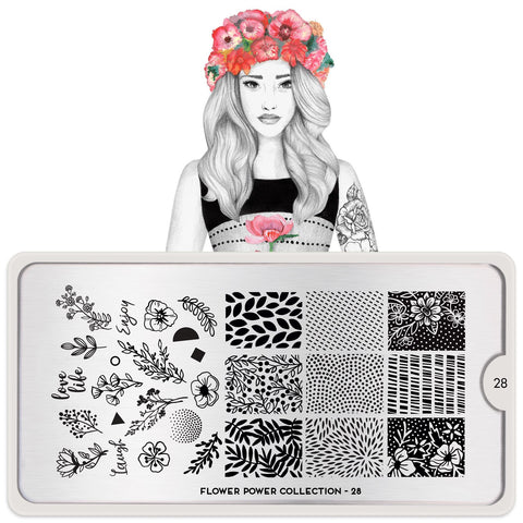 MoYou London Flower Power 28 stamping plate