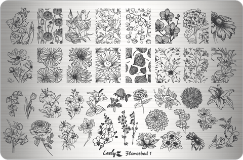 Lesly Flowerbed 1 stamping plate