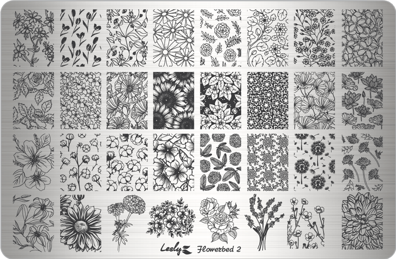Lesly Flowerbed 2 stamping plate