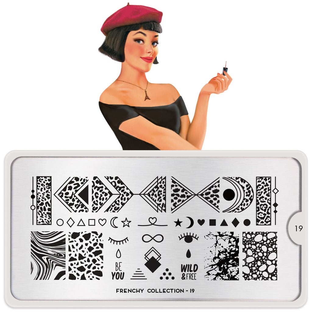 MoYou London Frenchy 19 stamping plate