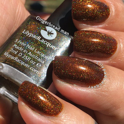 Lilypad Lacquer - Gingerbread Man (15ml)