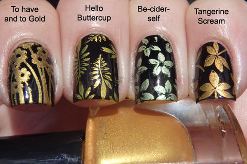 Hit The Bottle stamping polish - To Have and to Gold (5ml)