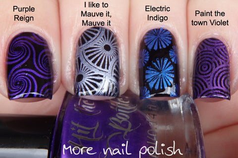Hit The Bottle stamping polish - Electric Indigo (5ml)