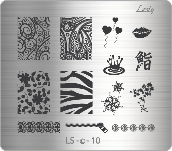 Lesly LS-10 stamping plate