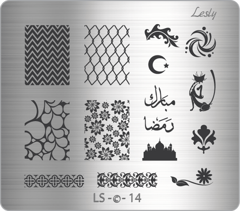 Lesly LS-14 stamping plate