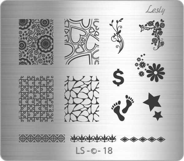 Lesly LS-18 stamping plate
