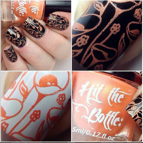 Hit The Bottle stamping polish - Let's go to the Peach (5ml)