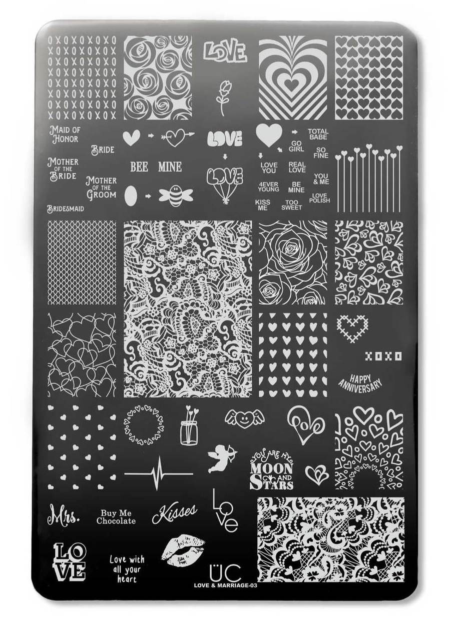 UberChic Love and Marriage-03 stamping plate