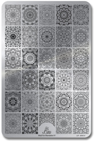 Lina - Mad For Mandalas 01 stamping plate
