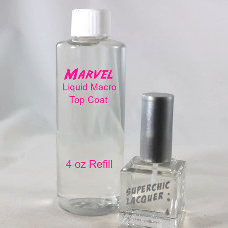 SuperChic Lacquer - Marvel Liquid Macro Top Coat Refill (4oz/120ml)