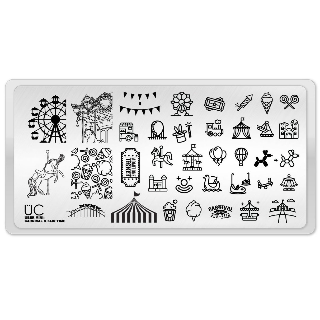Uber Mini Carnival & Fair Time stamping plate