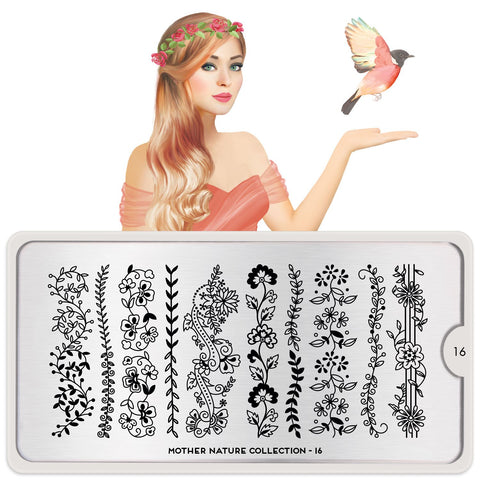 MoYou London Mother Nature 16 stamping plate