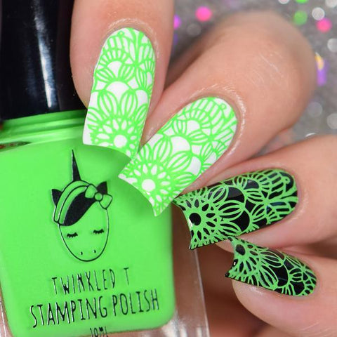 Twinkled T - stamping polish - No Filter