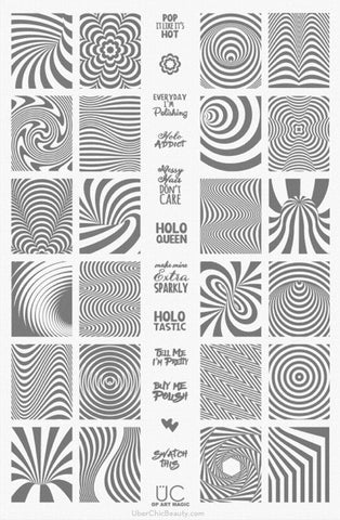 UberChic Op Art Magic stamping plate