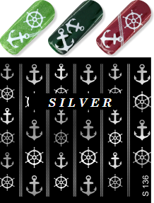 MILV water decals - S 136 silver