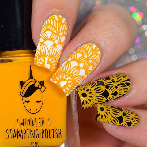 Twinkled T - stamping polish - Saucey