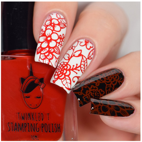 Twinkled T - stamping polish - Lit