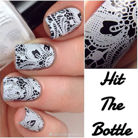 Hit The Bottle stamping polish - Snowed In (5ml)