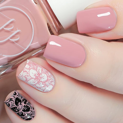 Painted Polish - Stamped in Blush