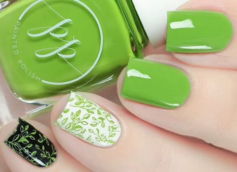 Painted Polish - Stamped in Greenery