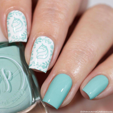 Painted Polish - Stamped in Mint