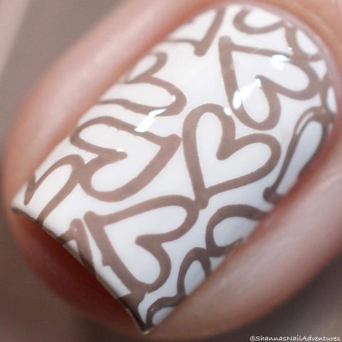 Painted Polish - Stamped in Taupe