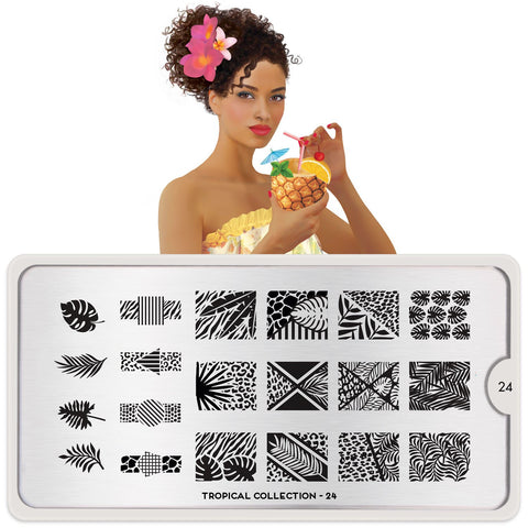 MoYou London Tropical 24 stamping plate