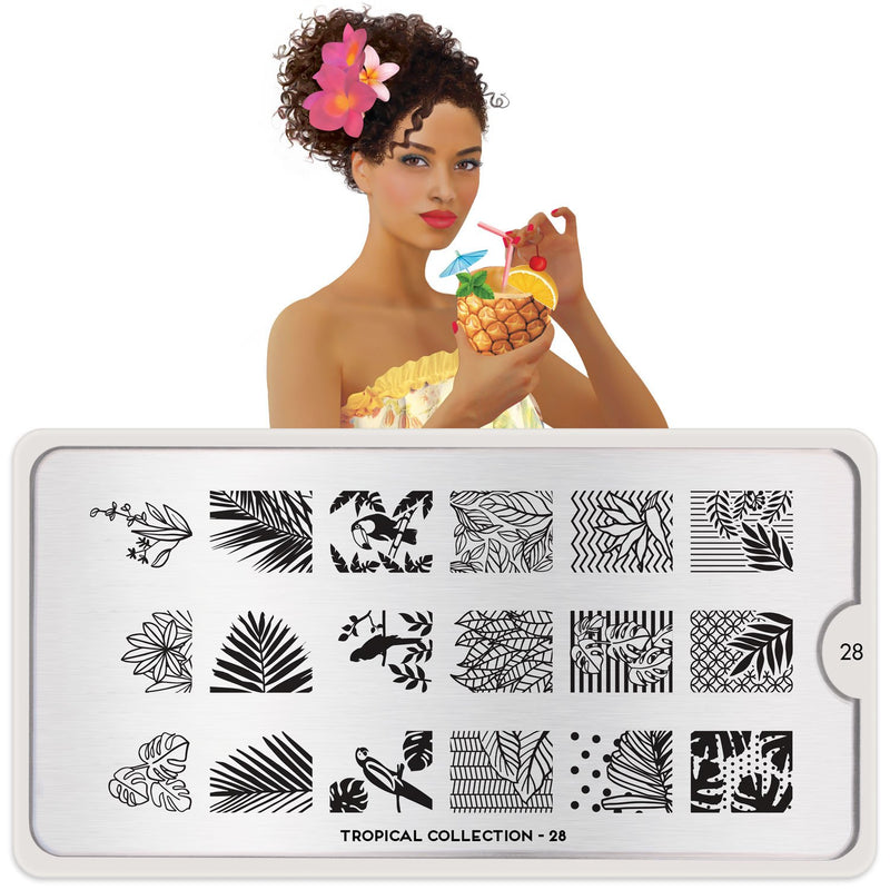 MoYou London Tropical 28 stamping plate