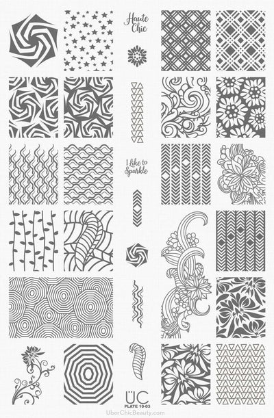 UberChic Collection 10 stamping plates