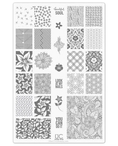 UberChic Collection 16 stamping plates