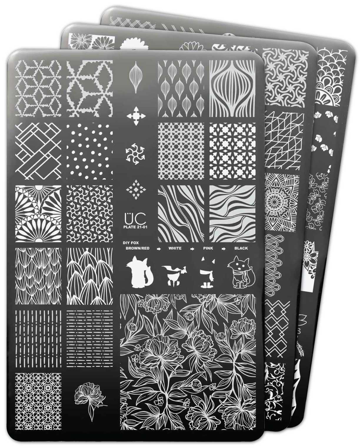 UberChic Collection 21 stamping plates