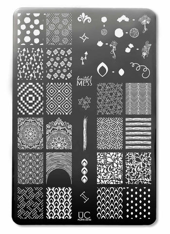 UberChic Collection 22 stamping plates
