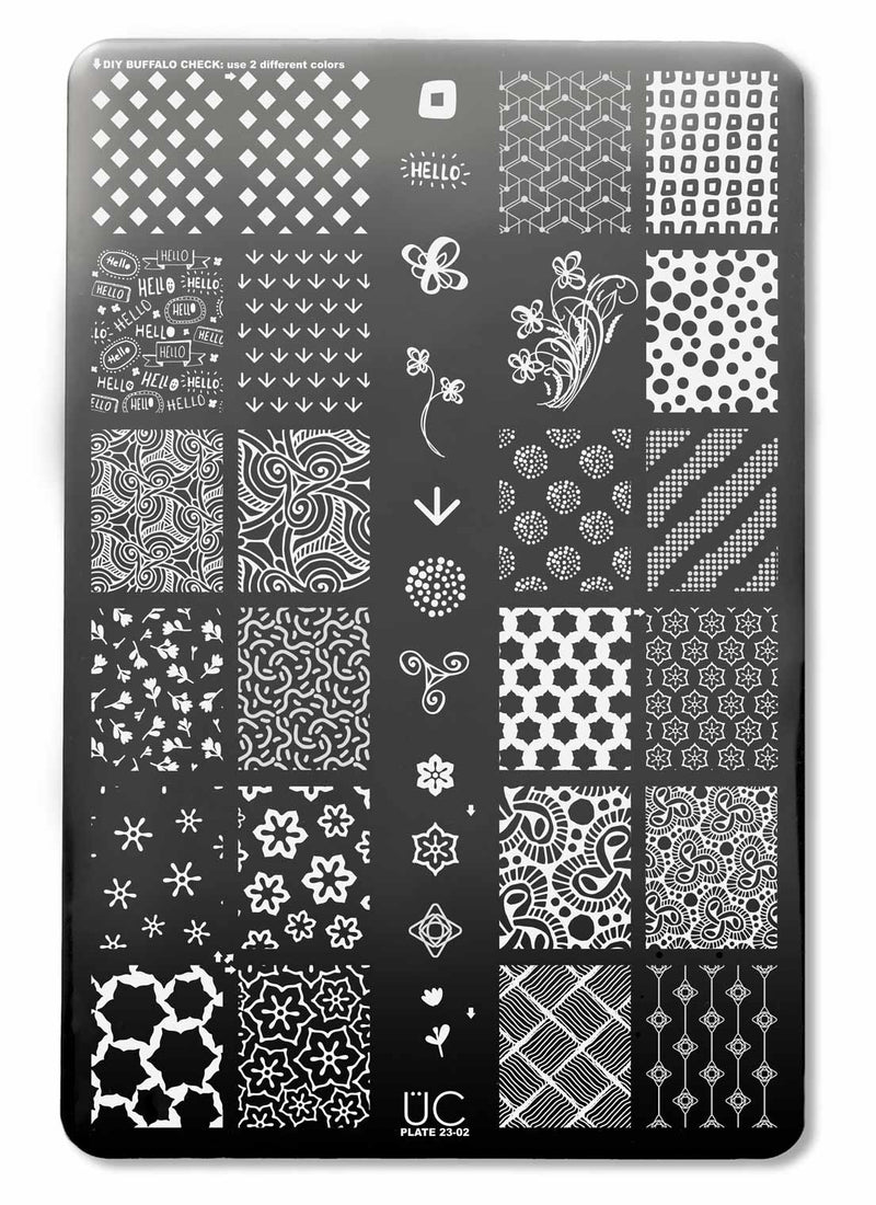 UberChic Collection 23 stamping plates