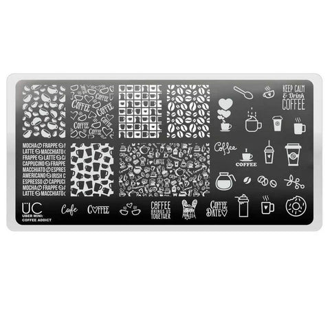 Uber Mini Coffee Addict stamping plate