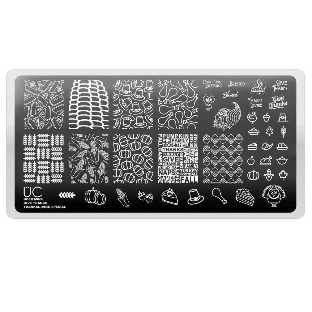 Uber Mini Give Thanks stamping plate