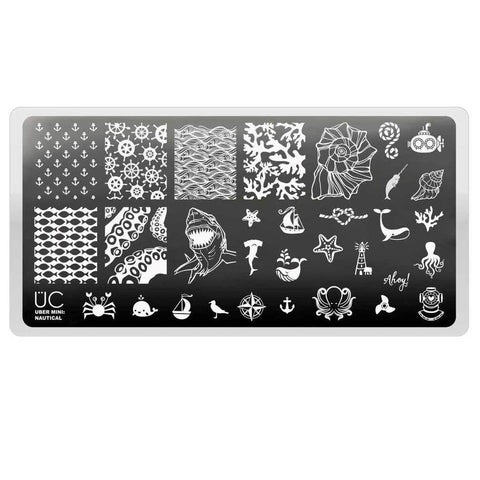 Uber Mini Nautical stamping plate