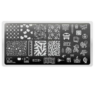 Uber Mini School Is Cool stamping plate