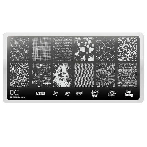 Uber Mini Texture-Licious 01 stamping plate