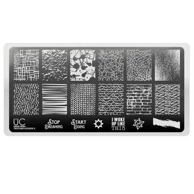 Uber Mini Texture-Licious 02 stamping plate