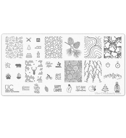 Uber Mini Great Outdoors stamping plate